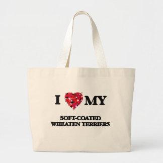 I love my Soft-Coated Wheaten Terriers Jumbo Tote Bag