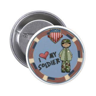 I love my soldier1a 6 cm round badge