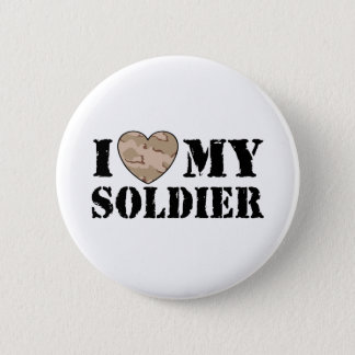 I Love My Soldier 6 Cm Round Badge