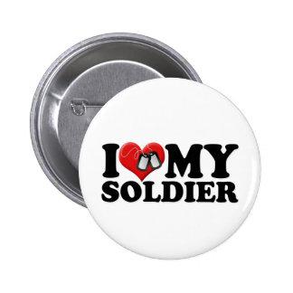 I Love My Soldier 6 Cm Round Badge