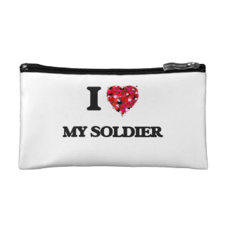 I love My Soldier Cosmetic Bags