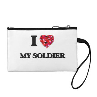 I love My Soldier Coin Purses