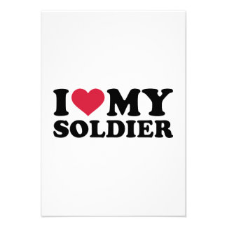 I love my Soldier Custom Invitations