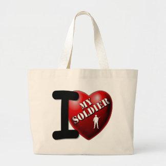 I Love My Soldier Jumbo Tote Bag