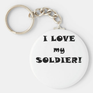 I Love my Soldier Key Chains