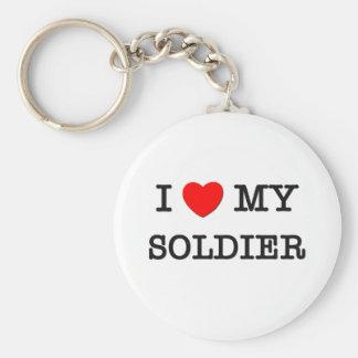 I Love My SOLDIER Key Ring