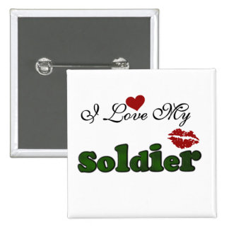 I Love My Soldier Tshirts and Gifts Buttons