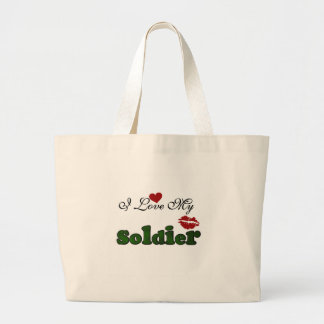 I Love My Soldier Tshirts and Gifts Canvas Bag