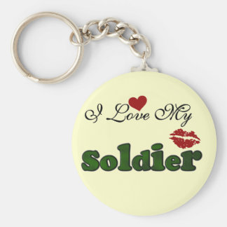 I Love My Soldier Tshirts and Gifts Key Chain