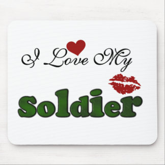 I Love My Soldier Tshirts and Gifts Mouse Pads