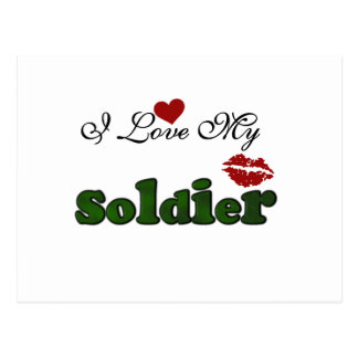 I Love My Soldier Tshirts and Gifts Postcard
