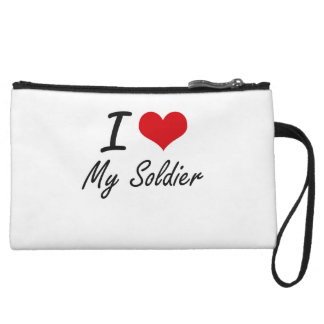 I love My Soldier Wristlets