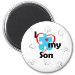 I Love My Son  - Autism 6 Cm Round Magnet