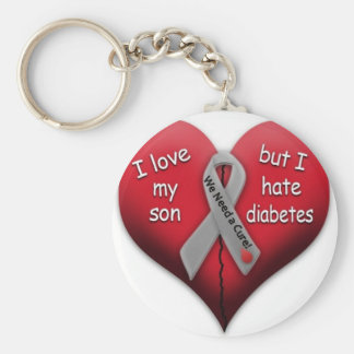 I love my son but Hate Diabetes Key Ring