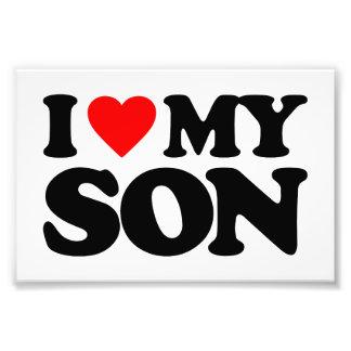 I LOVE MY SON PHOTO PRINT