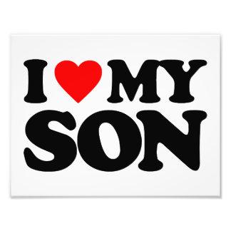 I LOVE MY SON PHOTOGRAPH