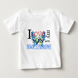 I Love My Son with Down Syndrome Baby T-Shirt
