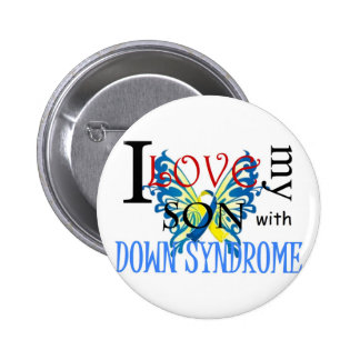 I Love My Son with Down Syndrome Pins