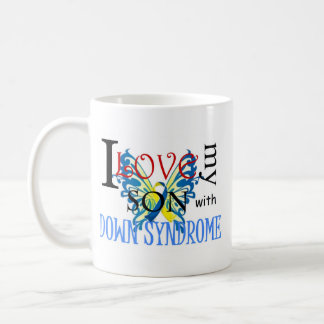 I Love My Son with Down Syndrome Basic White Mug