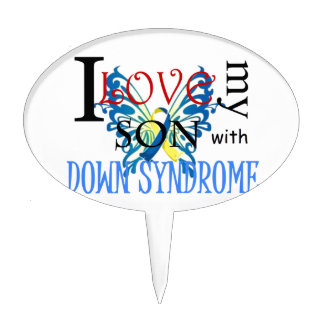 I Love My Son with Down Syndrome Cake Pick