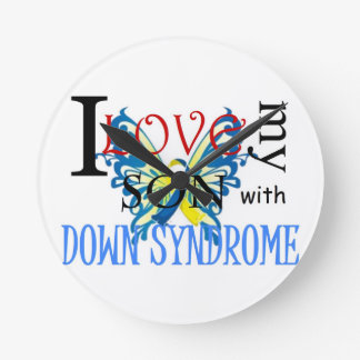 I Love My Son with Down Syndrome Wall Clocks