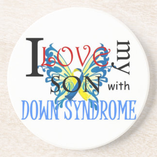 I Love My Son with Down Syndrome Drink Coaster