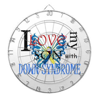 I Love My Son with Down Syndrome Dart Boards