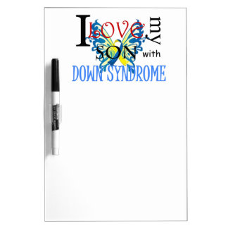 I Love My Son with Down Syndrome Dry Erase Boards