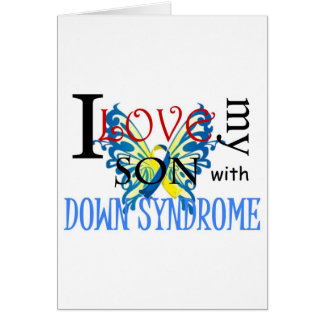 I Love My Son with Down Syndrome Greeting Card