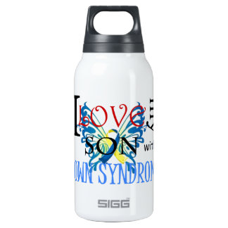 I Love My Son with Down Syndrome Insulated Water Bottle