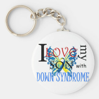 I Love My Son with Down Syndrome Keychain