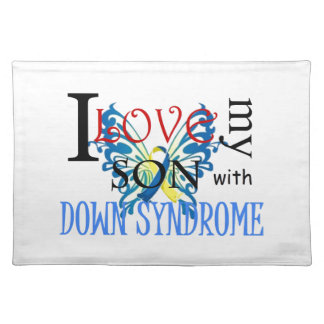 I Love My Son with Down Syndrome Place Mat