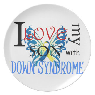 I Love My Son with Down Syndrome Dinner Plate