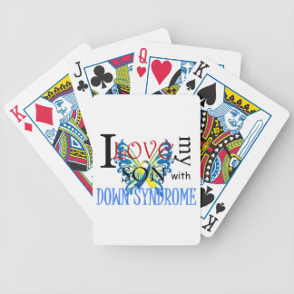 I Love My Son with Down Syndrome Poker Cards