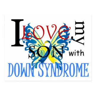 I Love My Son with Down Syndrome Postcard