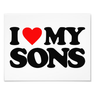 I LOVE MY SONS PHOTO