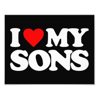 I LOVE MY SONS PHOTO PRINT