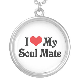 I Love My Soul Mate Silver Plated Necklace