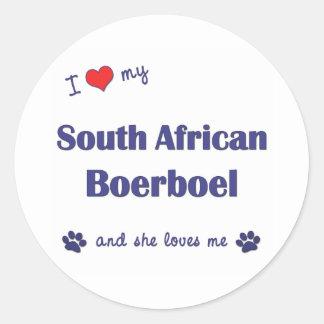 I Love My South African Boerboel (Female Dog) Stickers