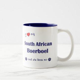 I Love My South African Boerboel (Female Dog) Two-Tone Mug