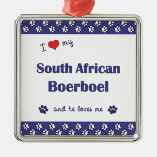 I Love My South African Boerboel (Male Dog) Christmas Ornament