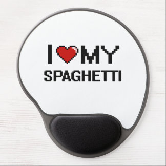 I Love My Spaghetti Digital design Gel Mouse Pad