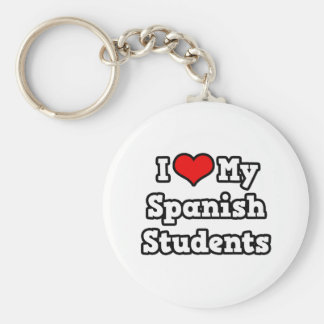 I Love My Spanish Students Key Chains