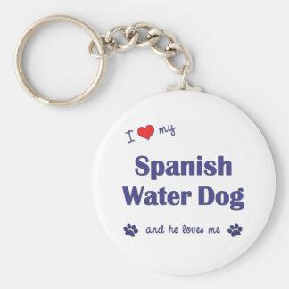 I Love My Spanish Water Dog (Male Dog) Key Ring
