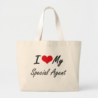 I love my Special Agent Jumbo Tote Bag