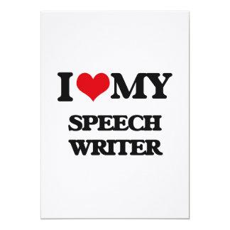 I love my Speech Writer Announcement