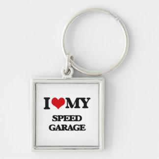 I Love My SPEED GARAGE Keychain