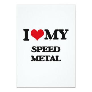 I Love My SPEED METAL Invitations