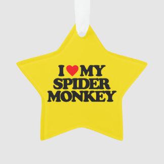 I LOVE MY SPIDER MONKEY ORNAMENT