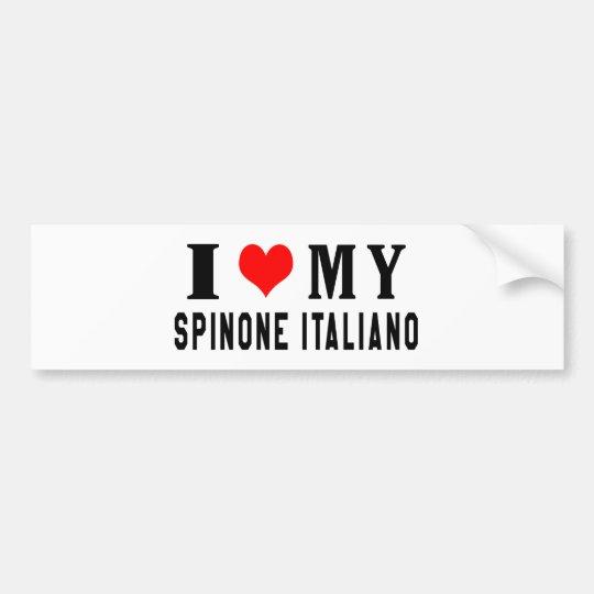 I Love My Spinone Italiano Bumper Sticker